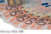 Купить «Купюры в пятьдесят евро», фото № 931189, снято 17 июня 2009 г. (c) Алексей Баранов / Фотобанк Лори