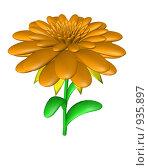 Оранжевый цветок. Стоковая иллюстрация, иллюстратор Фальковский Евгений / Фотобанк Лори