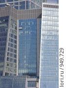 Купить «Москва-Сити, мойка окон», фото № 949729, снято 26 апреля 2009 г. (c) Олег Рыбаков / Фотобанк Лори