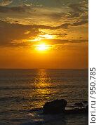 Закат на море, Бали (2008 год). Стоковое фото, фотограф Александр Юркинский / Фотобанк Лори