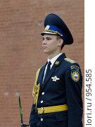 Купить «Солдат президентского полка у Кремлевской стены», фото № 954585, снято 6 июня 2009 г. (c) Синицын Игорь / Фотобанк Лори