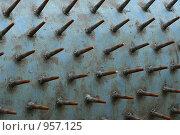 Купить «Металлический шипованный цилиндр - элемент строительной техники», фото № 957125, снято 1 июля 2009 г. (c) Erudit / Фотобанк Лори