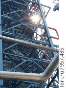 Купить «Нефтеперерабатывающий завод. Блок разделения риформата», фото № 957485, снято 6 мая 2009 г. (c) Евгений Батраков / Фотобанк Лори