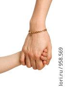 Купить «Две руки - детская и взрослая», фото № 958569, снято 20 июня 2009 г. (c) Григорьева Любовь / Фотобанк Лори