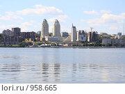 Купить «Панорама города Днепропетровска, вид на правый берег», фото № 958665, снято 5 июня 2009 г. (c) Сергей Колесников / Фотобанк Лори
