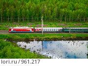 Октябрьская железная дорога - поезд (2009 год). Редакционное фото, фотограф Кекяляйнен Андрей / Фотобанк Лори