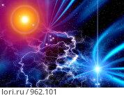Купить «Абстрактный фон с молниями», иллюстрация № 962101 (c) ElenArt / Фотобанк Лори