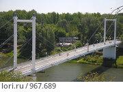 Купить «Пешеходный мост через реку Урал в городе Оренбурге», фото № 967689, снято 9 июля 2009 г. (c) Александр Катайцев / Фотобанк Лори