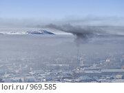 Змеиногорск. Смог над городом (2009 год). Стоковое фото, фотограф Дмитрий Сечин / Фотобанк Лори