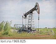 Купить «Нефтяной насос», фото № 969825, снято 10 июля 2009 г. (c) Мишарин Алексей / Фотобанк Лори