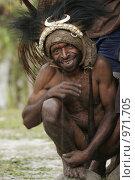 Мужчина провинции Ириан Джай (2007 год). Редакционное фото, фотограф Александр Киселев / Фотобанк Лори