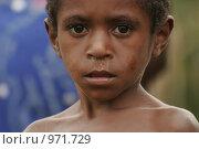 Маленький мальчик провинции Ириан Джай (2007 год). Редакционное фото, фотограф Александр Киселев / Фотобанк Лори