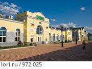 Железнодорожная станция Наушки. Бурятия. Государственная граница с Монголией (2009 год). Стоковое фото, фотограф Александр Подшивалов / Фотобанк Лори