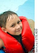 Купить «Мальчик в спасательном жилете», фото № 978409, снято 30 июня 2009 г. (c) Куликова Татьяна / Фотобанк Лори