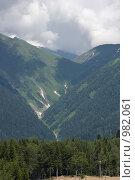 Купить «Красная поляна, гора Псехако», фото № 982061, снято 7 июля 2009 г. (c) Татьяна Дигурян / Фотобанк Лори