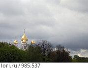Купить «Золотые купола», фото № 985537, снято 12 мая 2007 г. (c) Smolin Ruslan / Фотобанк Лори