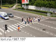 Купить «Пешеходный переход», эксклюзивное фото № 987197, снято 11 июля 2009 г. (c) Солодовникова Елена / Фотобанк Лори