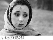 Купить «Грустная девушка», фото № 989513, снято 17 августа 2018 г. (c) Smolin Ruslan / Фотобанк Лори