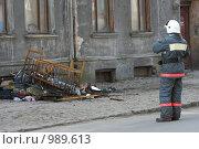 Купить «Пожар в доме», фото № 989613, снято 17 апреля 2009 г. (c) Smolin Ruslan / Фотобанк Лори