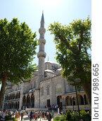 Минарет Голубой мечети (2009 год). Редакционное фото, фотограф Александр Патрушев / Фотобанк Лори