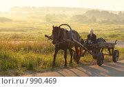 Купить «Рассвет в деревне», эксклюзивное фото № 990469, снято 19 июля 2009 г. (c) Майя Крученкова / Фотобанк Лори
