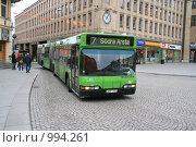 Купить «Городской пейзаж. Городской автобус (Уппсала, Швеция)», фото № 994261, снято 16 марта 2009 г. (c) Александр Секретарев / Фотобанк Лори