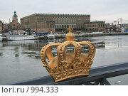 Купить «Городской пейзаж. Вид на королевский дворец.  (Стокгольм, Швеция)», фото № 994333, снято 16 марта 2009 г. (c) Александр Секретарев / Фотобанк Лори