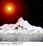 Купить «Фантастический 3D-пейзаж. Ночь», иллюстрация № 998077 (c) ElenArt / Фотобанк Лори