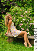 Купить «Портрет девушки», фото № 998413, снято 9 июля 2009 г. (c) Литова Наталья / Фотобанк Лори