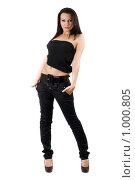 Купить «Красивая девушка», фото № 1000805, снято 18 сентября 2008 г. (c) Сергей Сухоруков / Фотобанк Лори