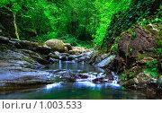 Купить «Свирское ущелье», фото № 1003533, снято 19 июля 2009 г. (c) Олег Ивашкевич / Фотобанк Лори