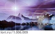 Купить «Фантастический 3d пейзаж», иллюстрация № 1006009 (c) ElenArt / Фотобанк Лори