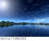 Купить «Фантастический 3d пейзаж», иллюстрация № 1006033 (c) ElenArt / Фотобанк Лори