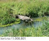 Старый мостик через речку. Стоковое фото, фотограф Геннадий Хрони / Фотобанк Лори