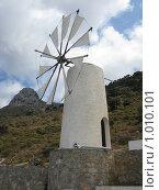 Белая ветряная мельница (Греция, Крит) (2008 год). Стоковое фото, фотограф Pavel S. Popov / Фотобанк Лори