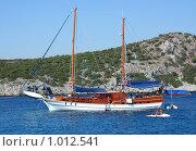 Купить «Путешествие по Эгейскому морю на яхтах. Остановка у острова», фото № 1012541, снято 18 июня 2019 г. (c) ElenArt / Фотобанк Лори