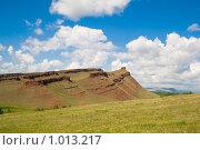 """Купить «Гора """"Сундук №1"""". Хакасия», фото № 1013217, снято 7 июля 2009 г. (c) Сергей Болоткин / Фотобанк Лори"""