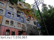 Купить «Австрия, Вена. Дом Фриденсрайха Хундертвассера», фото № 1016961, снято 30 июня 2009 г. (c) Pukhov K / Фотобанк Лори