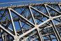 Фрагмент конструкций Финляндского железнодорожный моста через реку Неву. Санкт-Петербург., эксклюзивное фото № 1021925, снято 8 июля 2009 г. (c) Ольга Визави / Фотобанк Лори