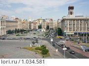 Купить «Киев, площадь Независимости», эксклюзивное фото № 1034581, снято 3 июля 2009 г. (c) Алексей Котлов / Фотобанк Лори