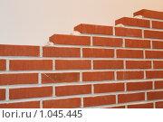 Купить «Кирпичная стена», фото № 1045445, снято 31 марта 2009 г. (c) Журавлева Виктория / Фотобанк Лори