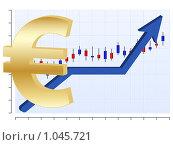 Купить «График с символом Евро», иллюстрация № 1045721 (c) Сергей Королько / Фотобанк Лори