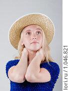 Портрет девушки в шляпе. Стоковое фото, фотограф Леонид Козлов / Фотобанк Лори
