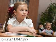 Купить «Первоклассники на уроке», фото № 1047877, снято 20 августа 2009 г. (c) Оксана Гильман / Фотобанк Лори