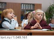 Купить «Дети на уроке», фото № 1049161, снято 20 августа 2009 г. (c) Оксана Гильман / Фотобанк Лори