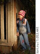 Купить «Девочка у забора в луче заходящего солнца», фото № 1053441, снято 20 августа 2009 г. (c) Никонор Дифотин / Фотобанк Лори