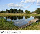 Купить «Летний деревенский пейзаж, Карелия», эксклюзивное фото № 1057977, снято 7 августа 2009 г. (c) Сергей Цепек / Фотобанк Лори