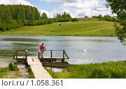 Купить «Сельский пейзаж. Изборск, Мальская долина», фото № 1058361, снято 9 июня 2009 г. (c) Михаил Котов / Фотобанк Лори