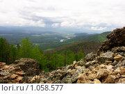 Вид на долину реки Хилок. Стоковое фото, фотограф Шишмарев Александр / Фотобанк Лори