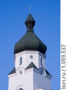 Церковь на фоне голубого неба (2009 год). Стоковое фото, фотограф Гордиенко Олег / Фотобанк Лори